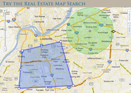 Louisville KY Homes for Sale Map Search